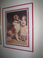 $15 for each vintage framed print or $45 for all four!  Approxim