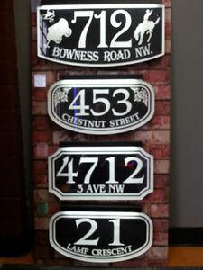 LED House Number Signage