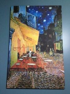 Van Gogh Cafe Terrace Canvas Painting-Excellent condition