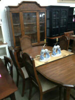 Table with 6 Chairs and Hutch Buffet - Delivery Available