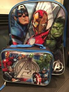 Marvel Avengers 15 Backpack with Lunch bag
