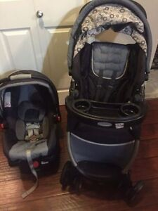 graco quick fold stroller &  click connect  35 car seat