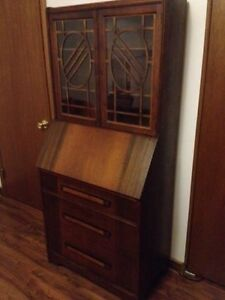 antique mahogany high boy secretary desk