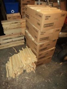 kindling (to start your wood stove}