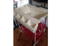 Baby changing table and bath