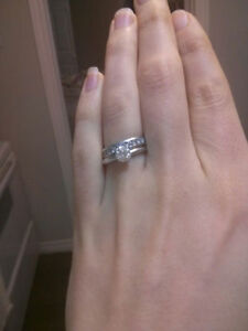 .72 Solitare Engagement Ring and Matching Wedding Band