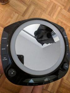 Sharper Image Fog-Free Shower Mirror with Radio