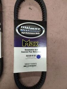 3 AVAILABLE - ULTIMAX SNOWMOBILE BELT FOR POLARIS AND YAMAHA