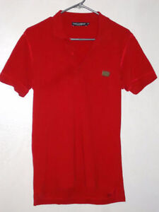 Dolce & Gabbana Stamped knit button down polo, Size S-M NEW