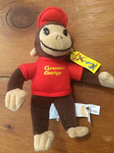 """8"""" Curious George Stuffed Toy - $10"""