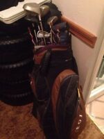 Golf clubs and bag  $70