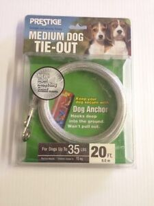 Prestige Medium Dog Tie Out - Never Used
