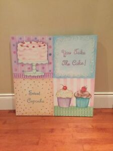 Cupcake Picture Wall Art