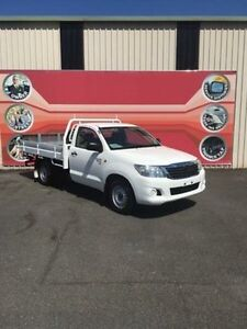 2012 Toyota Hilux GGN15R MY12 SR White 5 Speed Automatic 2D Cab Chassis Gosford Gosford Area Preview