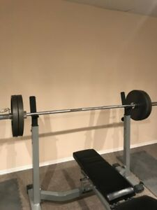 Weights, Dumbbells, bent bar, Clips and racks
