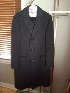 Manteau d'hiver pour homme fait en laine et cachemire