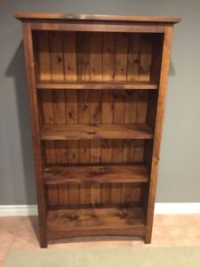 Country rustic solid wood bookcase