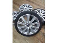 GENUINE MK5 VW GOLF R32 18'' OMANYT PHASE 2 ALLOY WHEELS 1K0601025BL SPEEDLINE