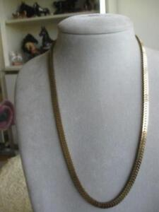 ELEGANT 23 OVER-LAPPED CLOSED-LINK HEAVY CHAIN NECKLACE