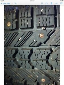 mud and snow studded firestone tires