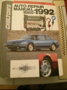 Auto repair manual Chilton 1988 - 1992 US and Canadian models