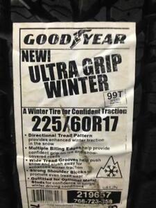 Brand New Goodyear Ultra Grip Winter 225/60R17.
