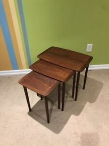 Mid Century Rosewood Nesting Tables