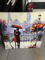 BRAND NEW BEAUTIFUL PARISIAN SCENE CANVAS PAINTING, CAN DELIVER