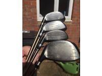 **King Cobra Golf woods 3, 7, 9 and a Driver (all have head covers)**