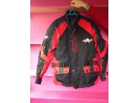 Akito all weather armoured motorbike jacket size small.