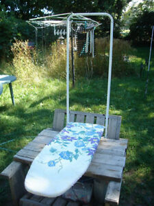 Excellent Condition: Wall Mount Ironing Board With Cover