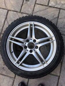 4 pneus d'hiver avec rues