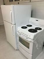 Compact refrigerator and 24 inch range mint condition