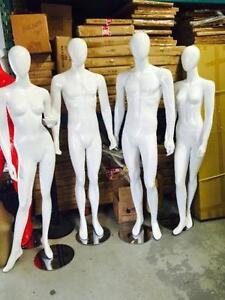 White Egg Head Mannequins/ male mannequins/ female mannequins