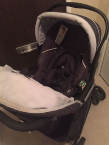 Eddie Bauer Travel System – Coal Color-Baby Stroller & car seat