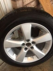 18'' Toyota Highlander alloy rims with michelin energy mxv4 all