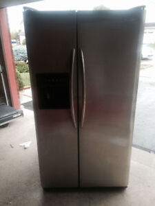 Mint condition double door stainless steel fridge for sale