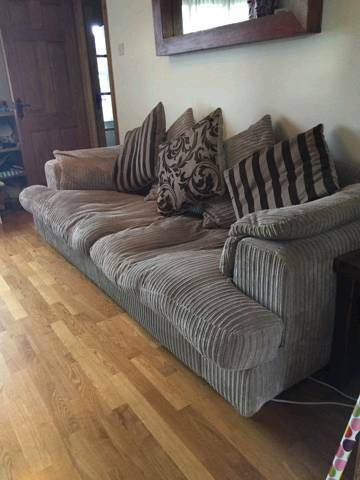 Large Cream Corduroy Sofa In County Tyrone Gumtree