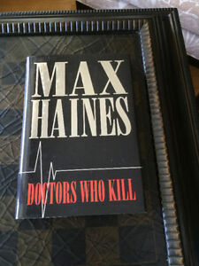"""Doctors Who Kill"" by Max Haines - like new hardcover - only $3"