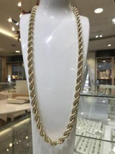 10k Yellow Gold Rope Chain Link 32 inches 10 mm 47.6 gr