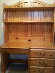 Solid Wood Captain's Bed with Desk/Hutch