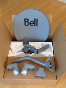 NEW BELL TV HD SATELLITE DISH and 2 LNBs