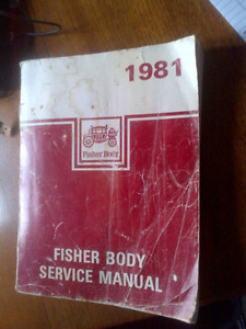 Reduced 1981 Fisher Body Service manual