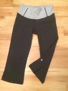 Lululemon sweater and 3/4 crop pants