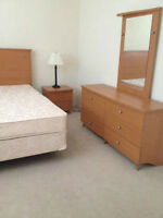 Reduced price!!! - queen bed, 2 night tables, 2 dressers +mirror