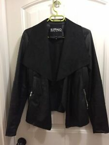 Ladies Black Buffalo leather jacket for sale