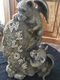 Rustic Gargoyle Welcome ornament