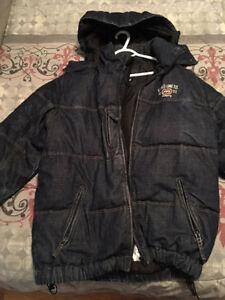 Manteau Ecko Medium en jeans, int. plume d'oie