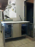 2 door Table fridge
