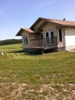 Home on acreage or quarter for rent Crane Lake AB